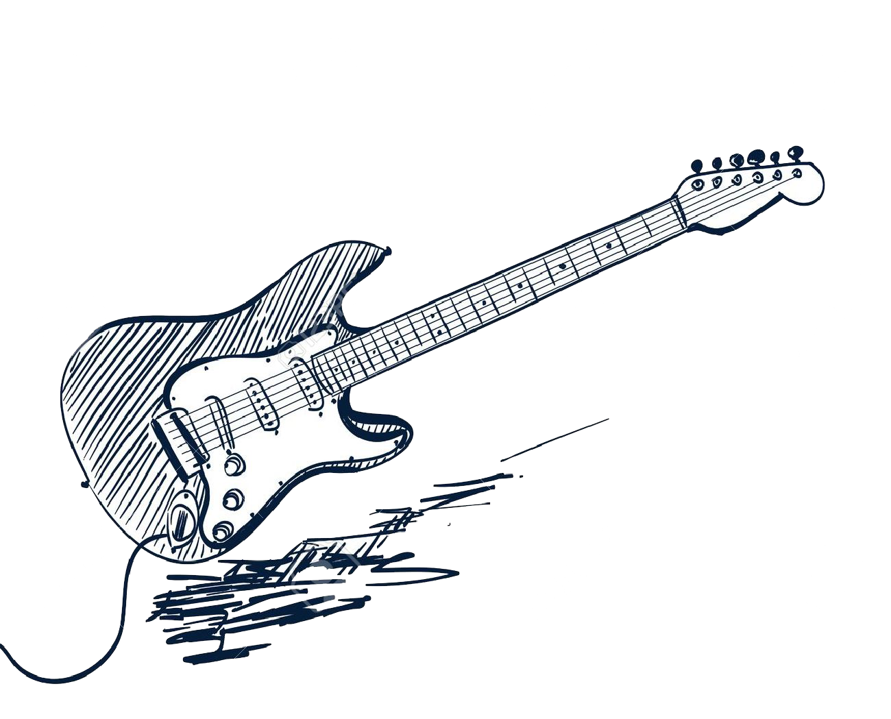 1300x1049 Download Sketch Electric Guitar Vector Graphics Drawing Clipart
