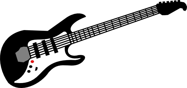 600x284 Electric Guitar Clip Art Free Vector In Open Office Drawing