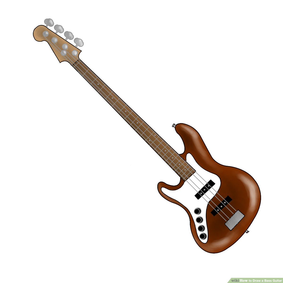 1200x1200 How To Draw A Bass Guitar Steps