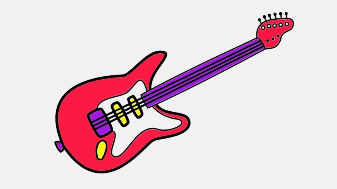 1280x720 Top Guitar Drawing For Kids Photos