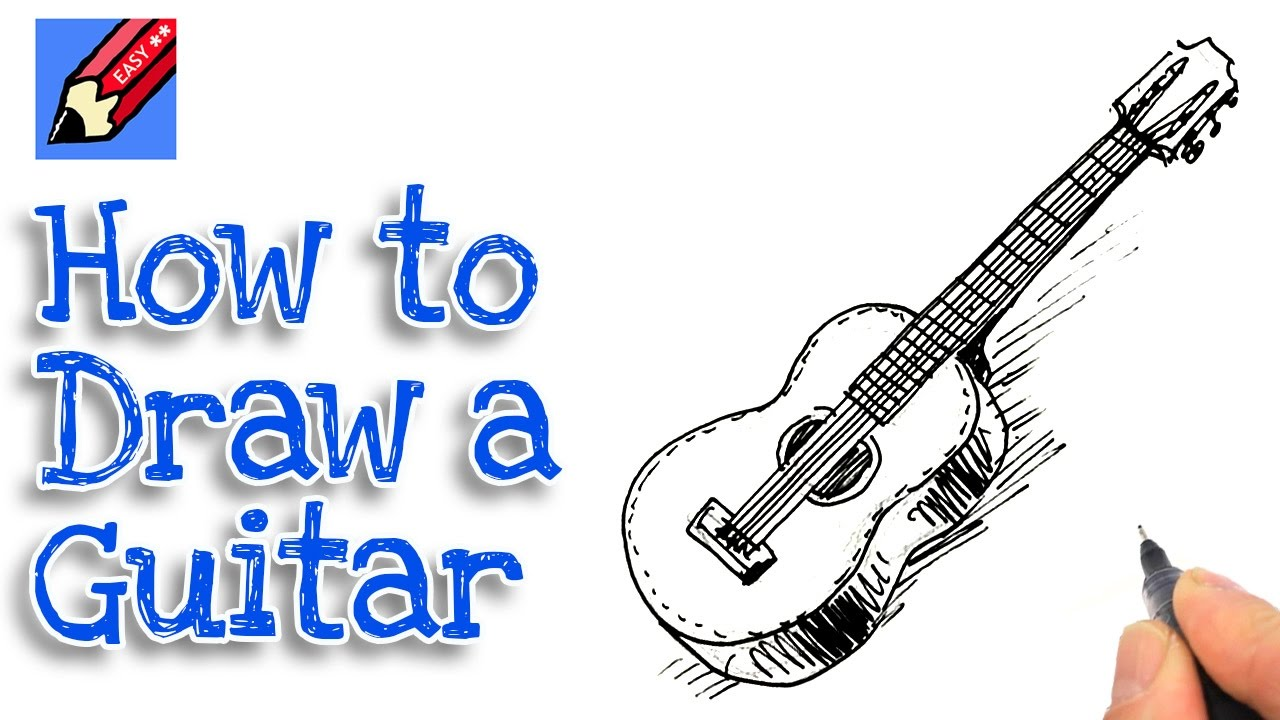 1280x720 How To Draw A Spanish Guitar Real Easy