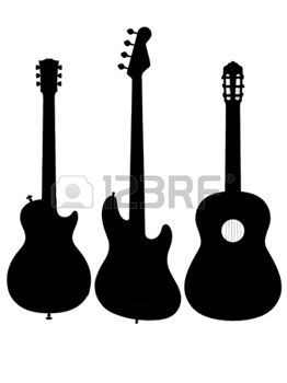 262x350 guitar guitar outline silhouette acoustic electric silhouette