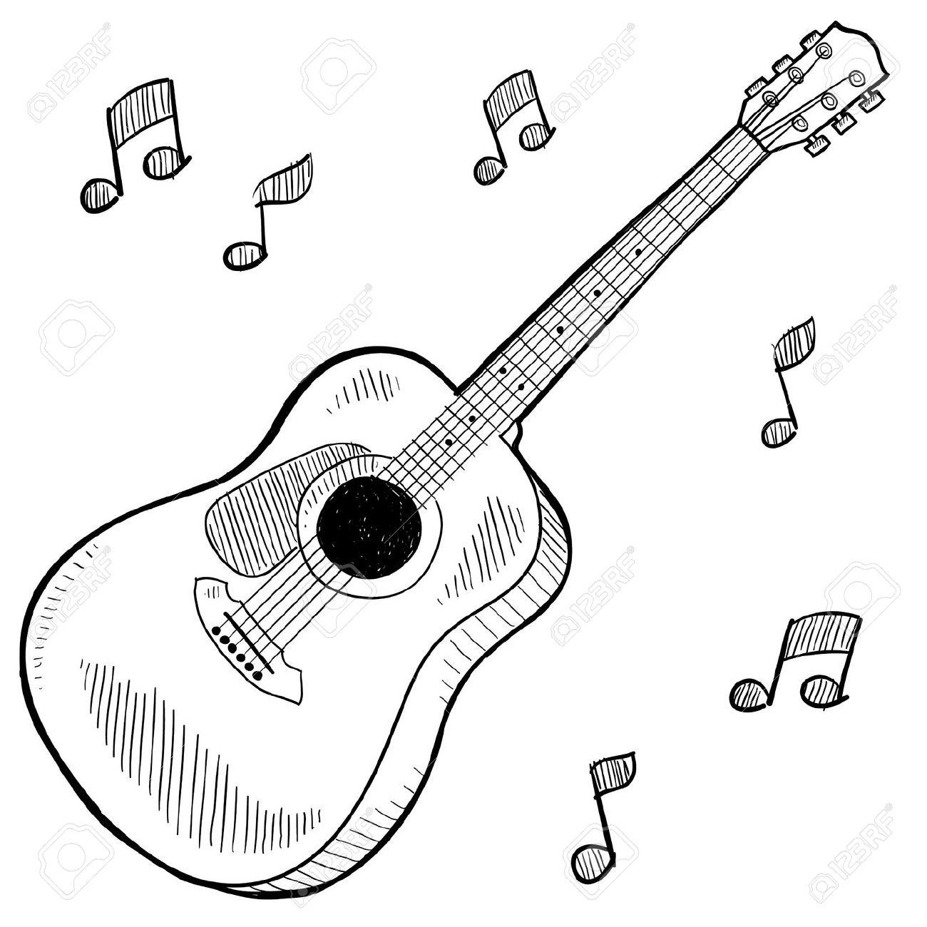Guitar Simple Drawing