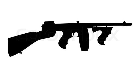 480x240 gun silhouette stock image of 'silhouette of tommy gun' b day