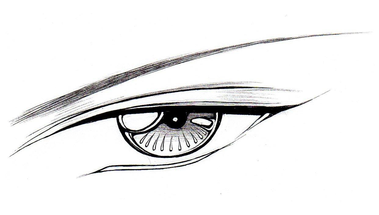 Guy Eyes Drawing