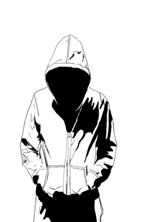 Guy In Hoodie Drawing