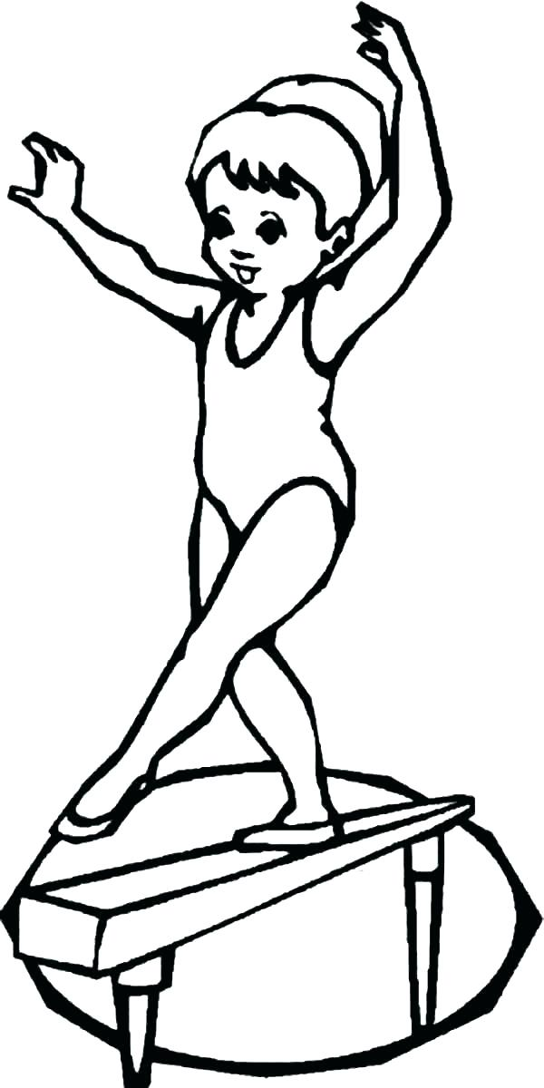 600x1200 Gymnastic Colouring Pictures Gymnastic Gymnastic Coloring Pictures