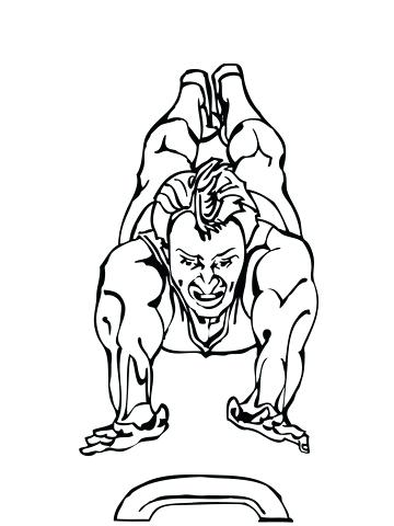 360x480 Gymnastics Coloring Pages Vault Artistic Gymnastics Coloring