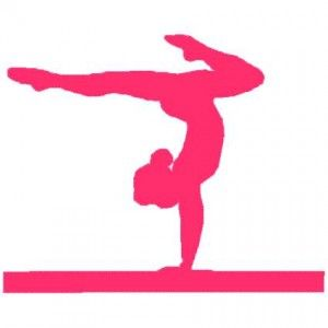 300x300 Simple Silhouette Gymnastics Girl Gymnastics Meet Treat Ideas