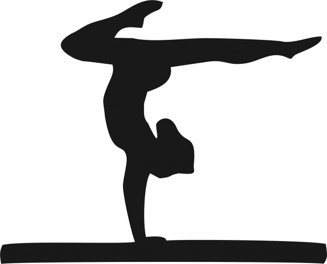640x517 Collection Of 'gymnastics Beam Silhouette' Download More Than