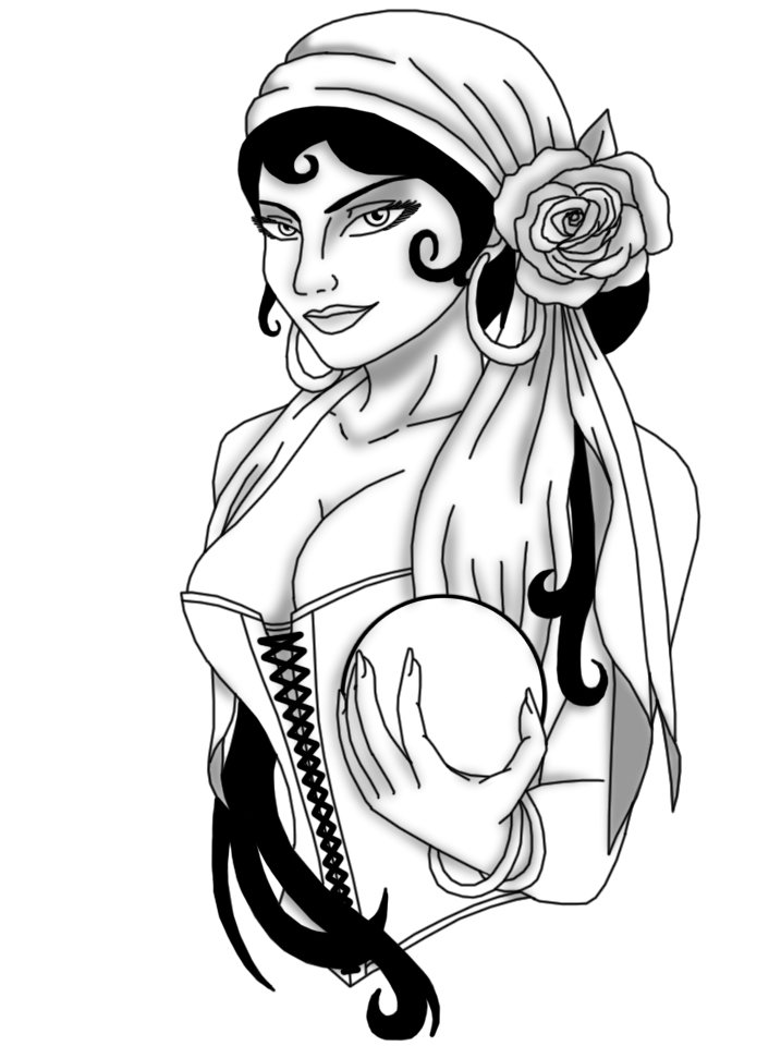 Gypsy Woman Drawing