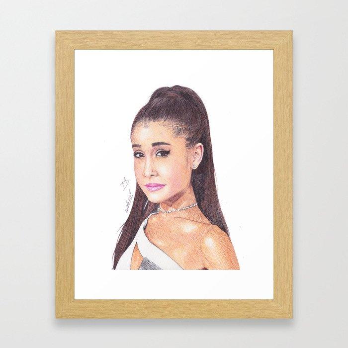 700x700 ag ballpoint pen drawing framed art print
