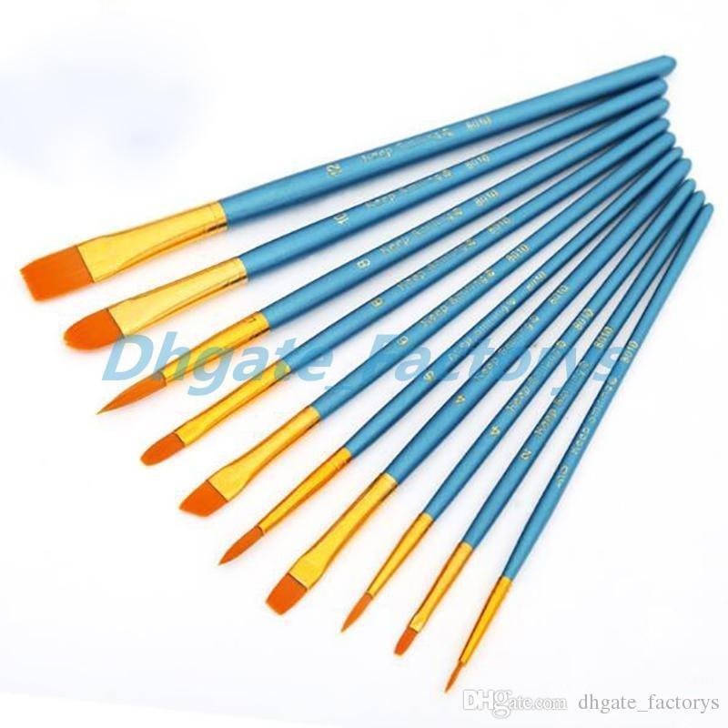 800x800 kids student watercolor gouache painting pen nylon hair wooden