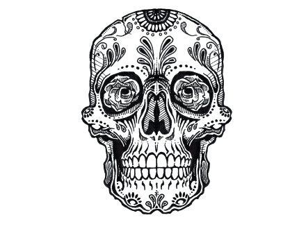 440x330 simple sugar skulls to draw sugar skulls love it sugar simple half