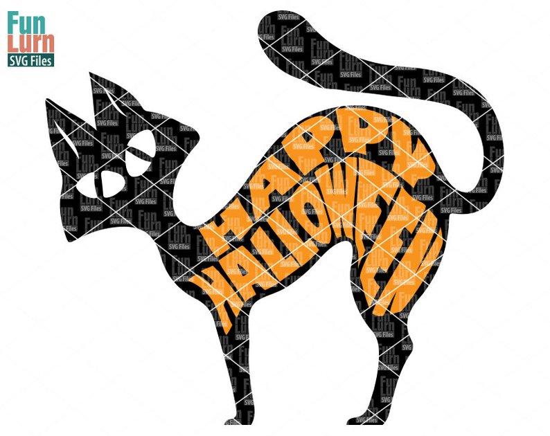 794x630 happy halloween sign halloween black cat halloween etsy
