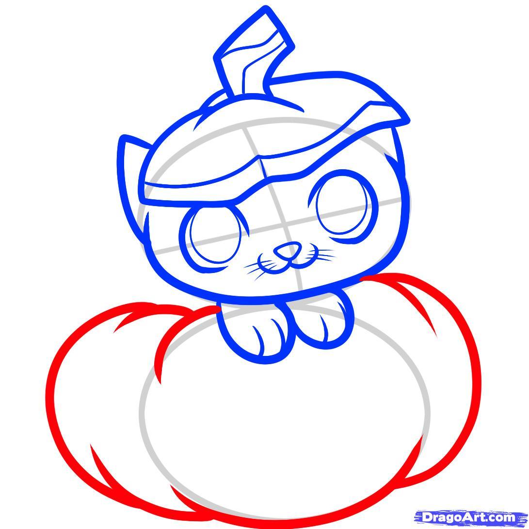 1091x1091 draw a halloween cat, halloween cat, step