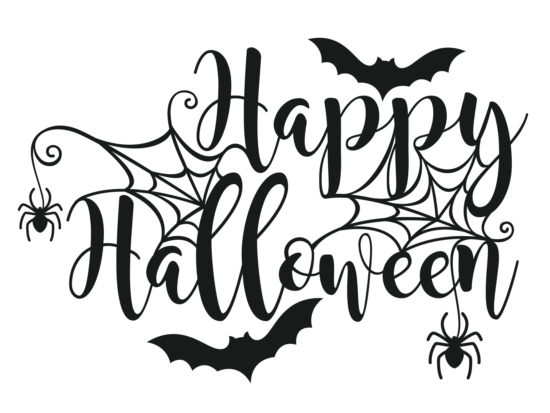 Easy Happy Halloween Drawings