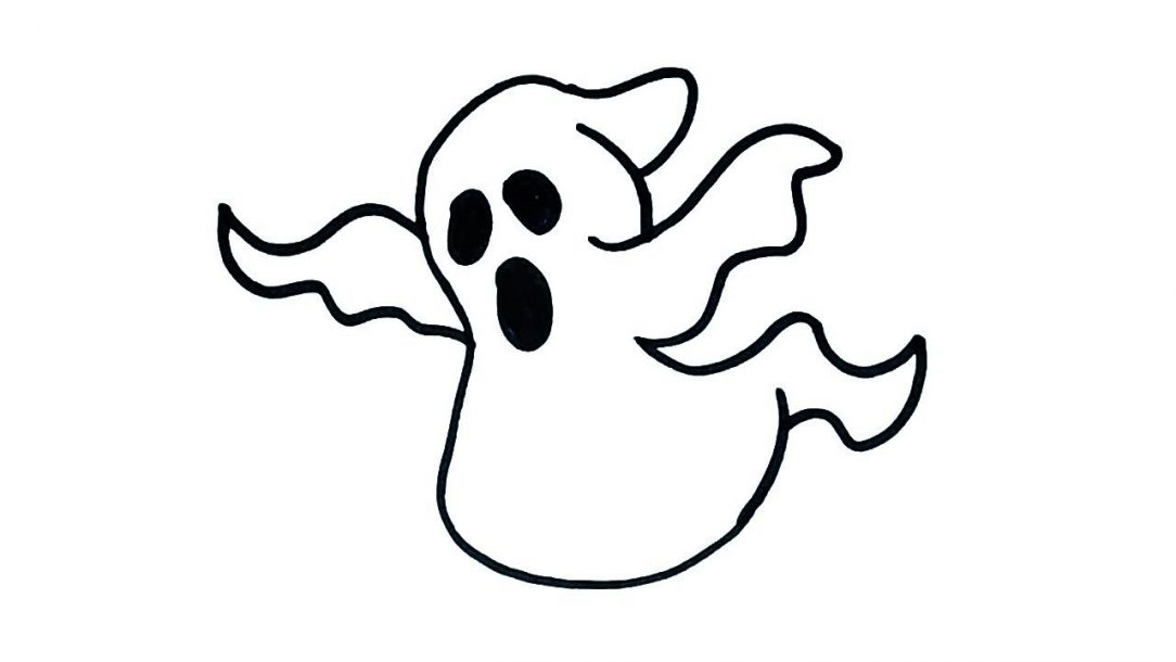 1084x610 Ghost Drawing Ideas Easy Images Step Halloween Cute I Fertility