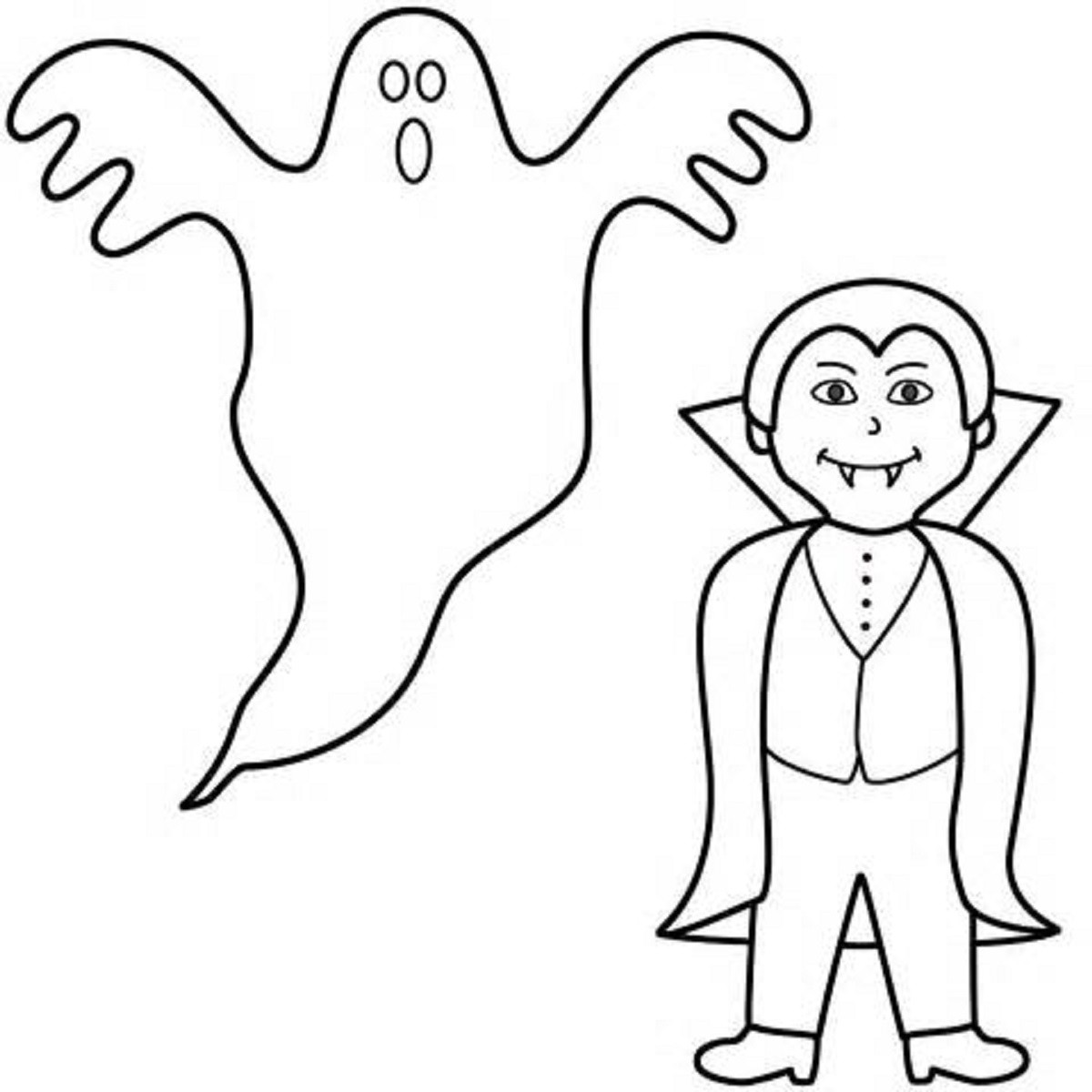 1200x1200 Ghost Halloween Coloring Pages Drawing For Kids At Getdrawings Com