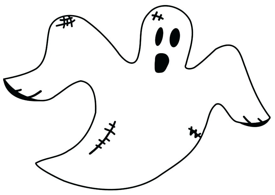 875x620 Halloween Ghost Coloring Pages
