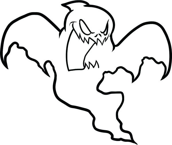 600x508 Halloween Ghost Coloring Pages Printables For Kids Awesome Simple
