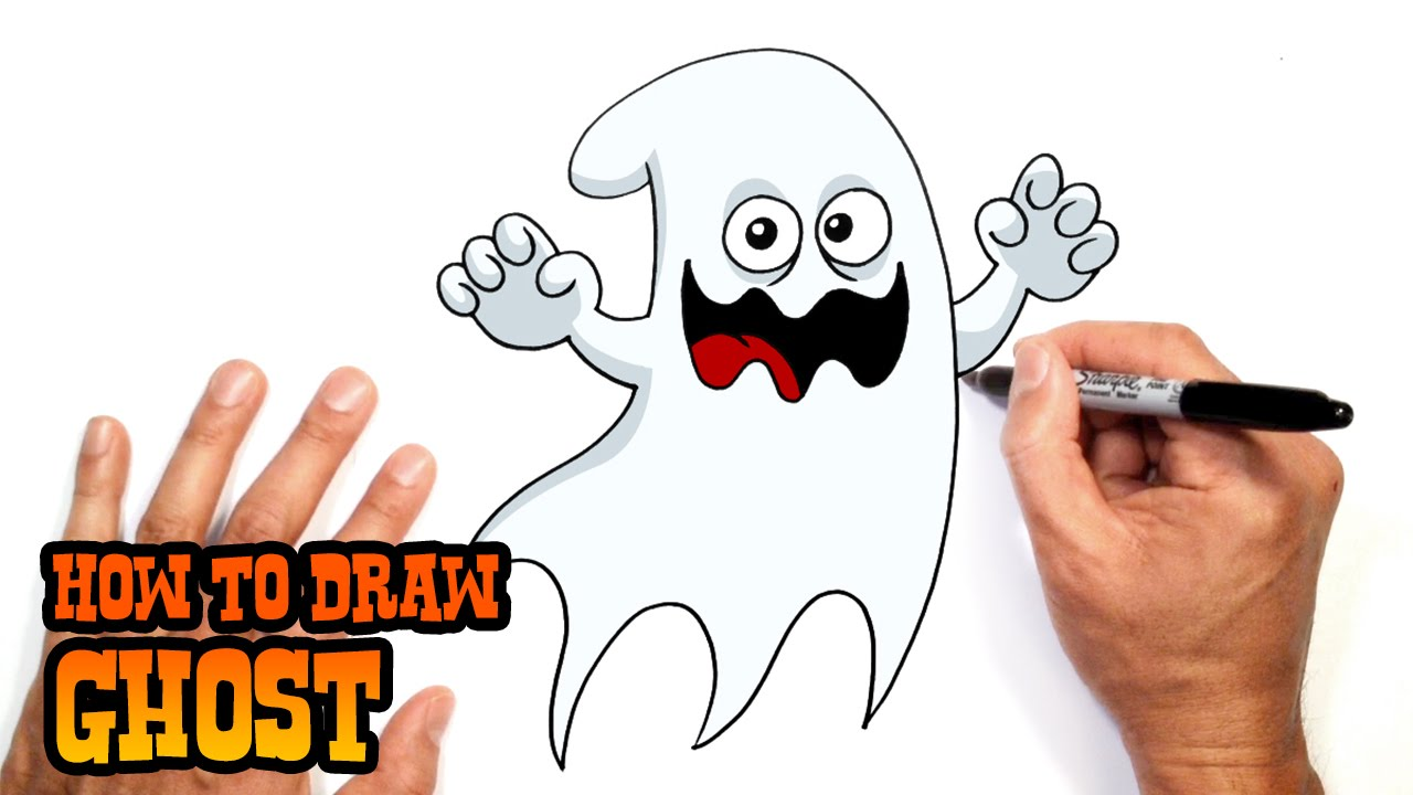 1280x720 How To Draw A Halloween Ghost Drawing Lesson