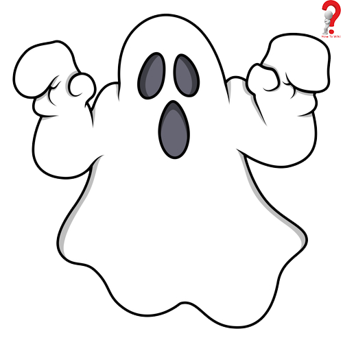 500x499 Ghost Drawing Image How To Art Halloween Coloring, Halloween