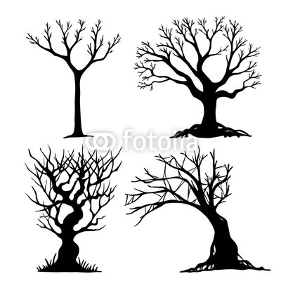 400x400 set of halloween tree dead tree from vector scary tree