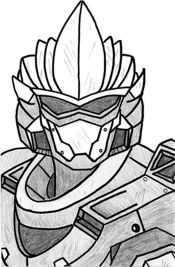 724x1103 Halo Drawings Hayabusa Helmet