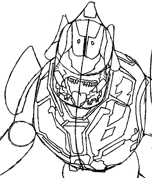 500x583 How To Draw The Elite From Halo With Easy Step