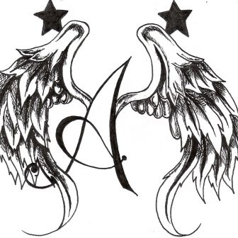 336x336 Angel Wings And Halo Drawing Outline Simple Easy Ideas Los Angeles