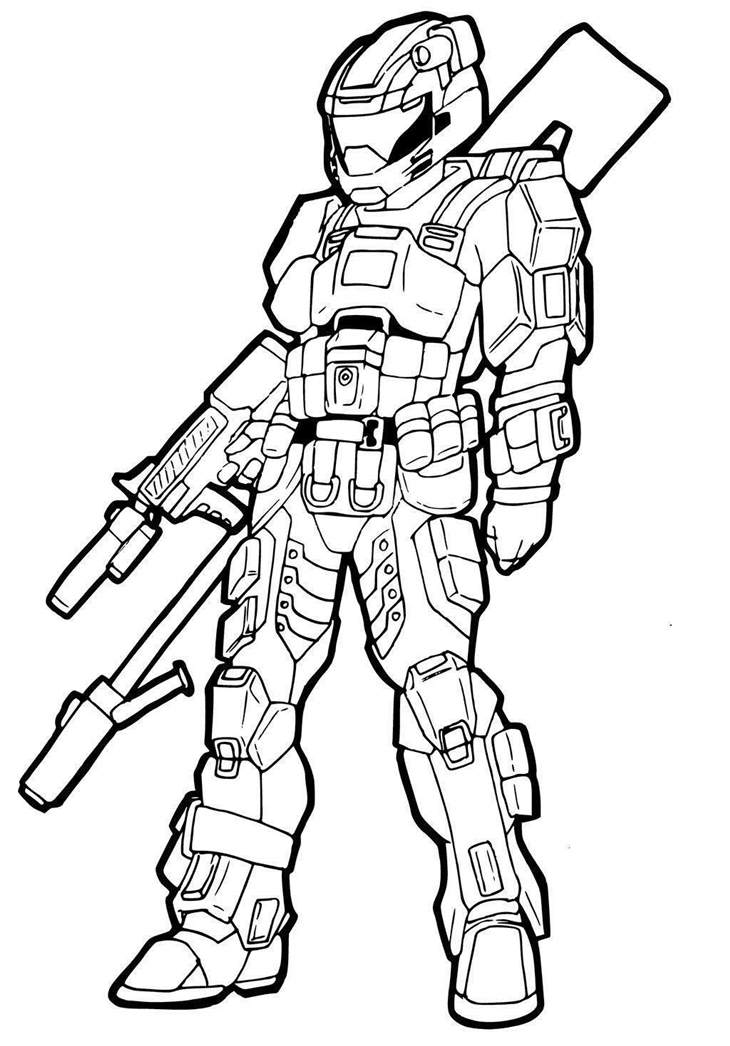 730x1046 Halo Coloring Pages