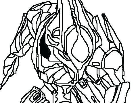 480x360 Halo Master Chief Coloring Pages