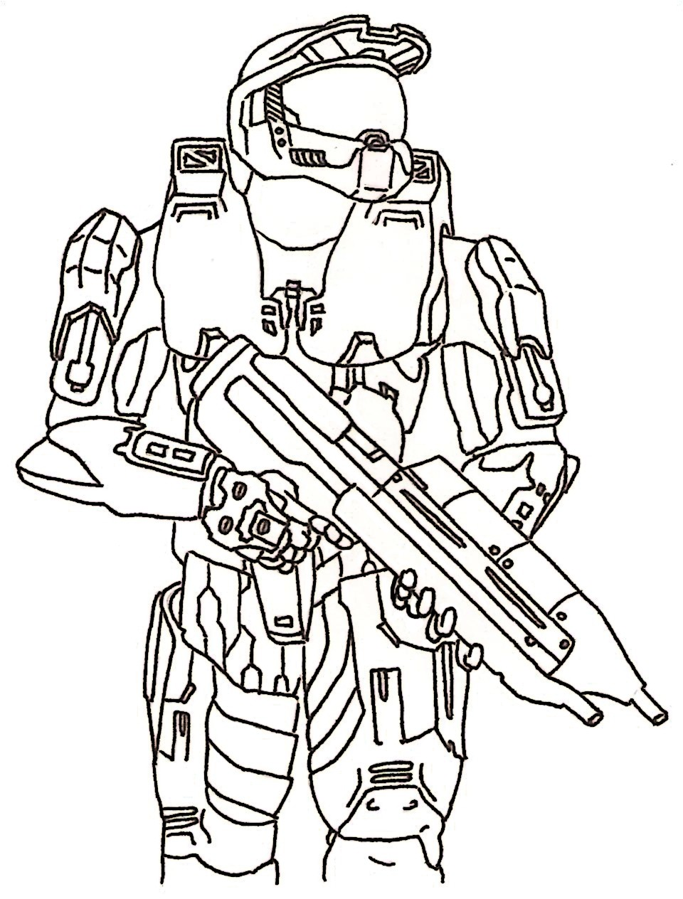 960x1264 Master Chief Coloring Pages