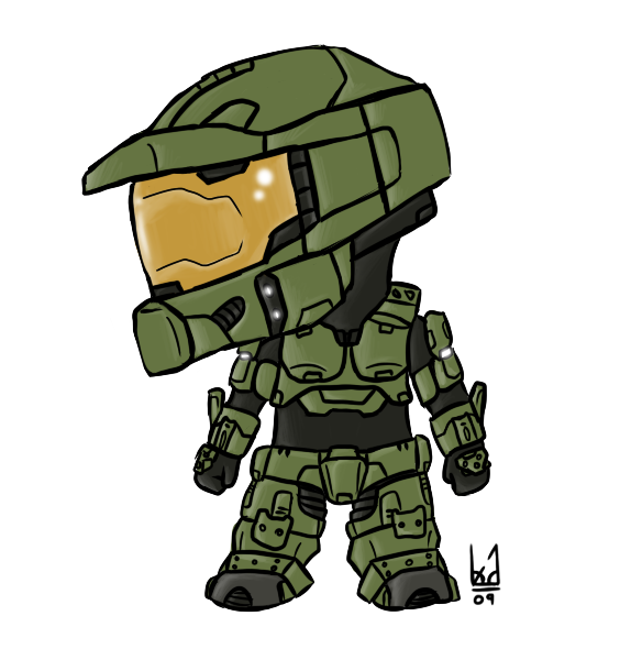 584x590 Collection Of Free Halo Drawing Chibi Download On Ui Ex