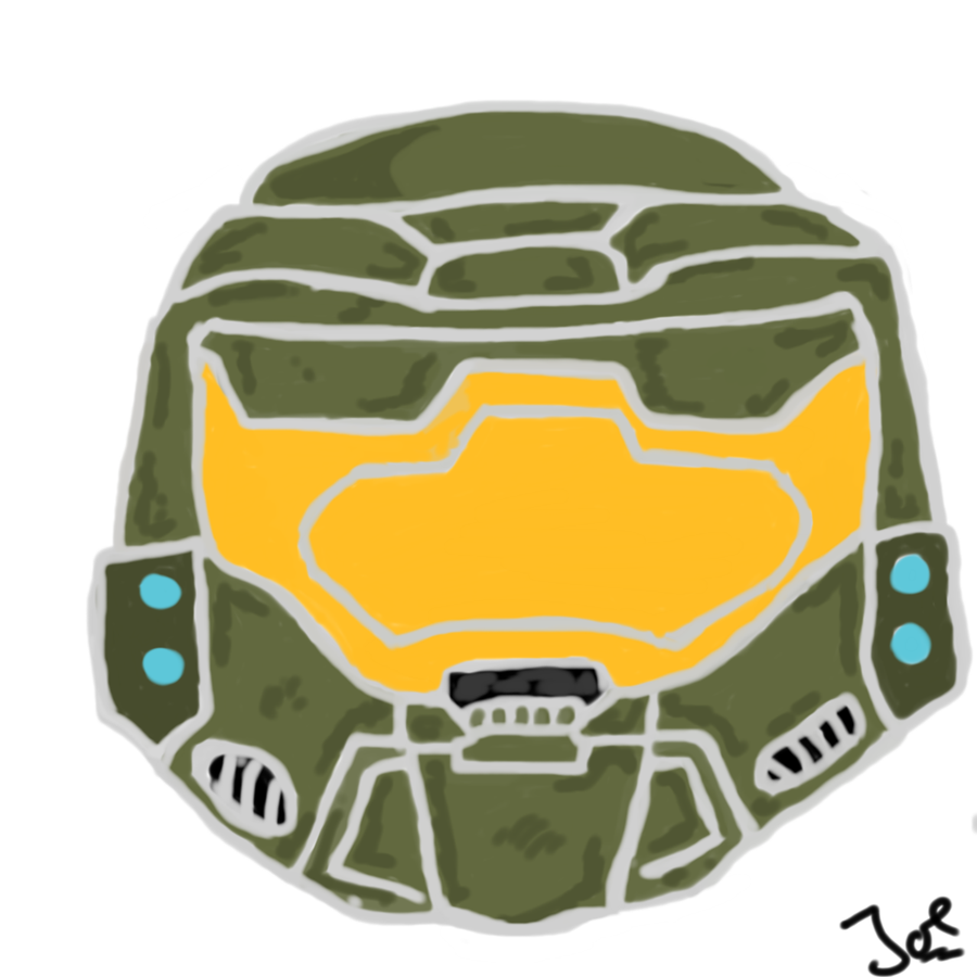 900x900 Master Chief Helmet Halo Drawing