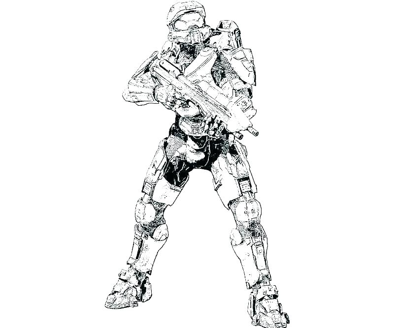 800x667 Halo Coloring Pages Master Chief Free Color Odst To Print