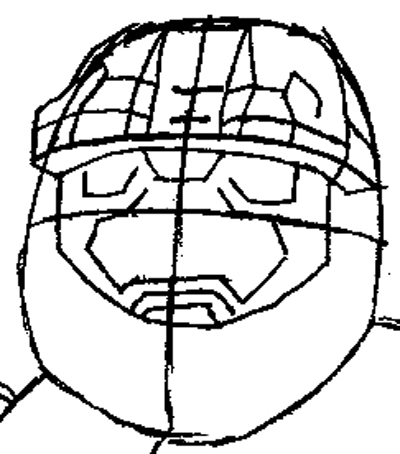 400x454 How To Draw Spartans From Halo With Easy Step