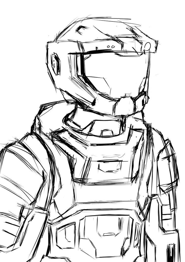 752x1063 Halo Reach Armor Doodle