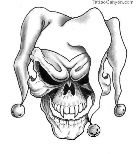 550x620 Skull Drawing Joker For Free Download