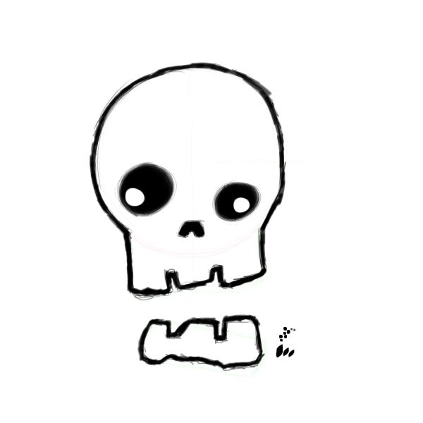 600x600 Huge Collection Of 'basic Skull Drawing' Download More Than