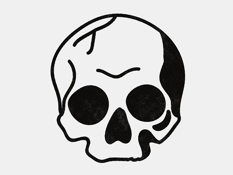 800x600 Simple Blackwork Skull Body Art Tattoo Designs, Simple Skull