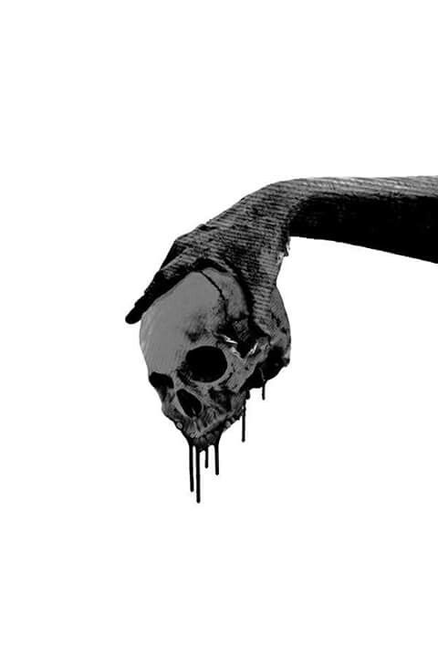 480x720 Skull Drawing Aesthetic For Free Download