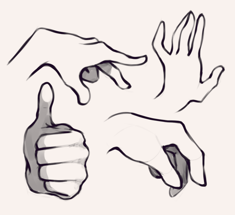 890x814 Hand References Drawing