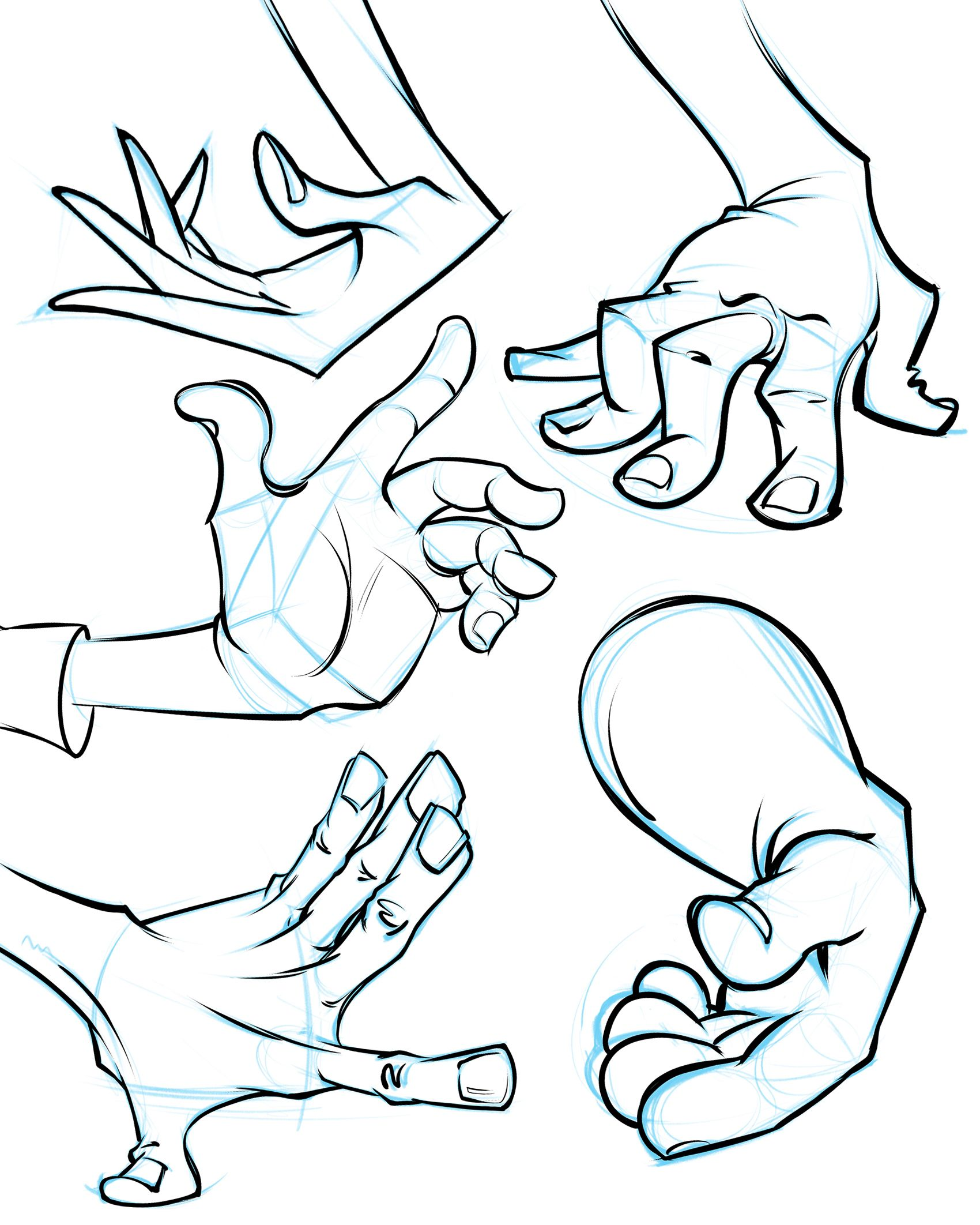 1700x2124 How To Draw Cartoon Hands