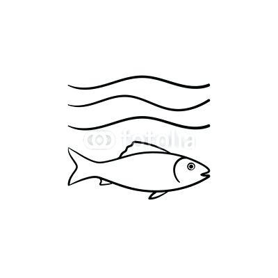 400x400 Small Fish Drawing Small Small Fish Line Drawing