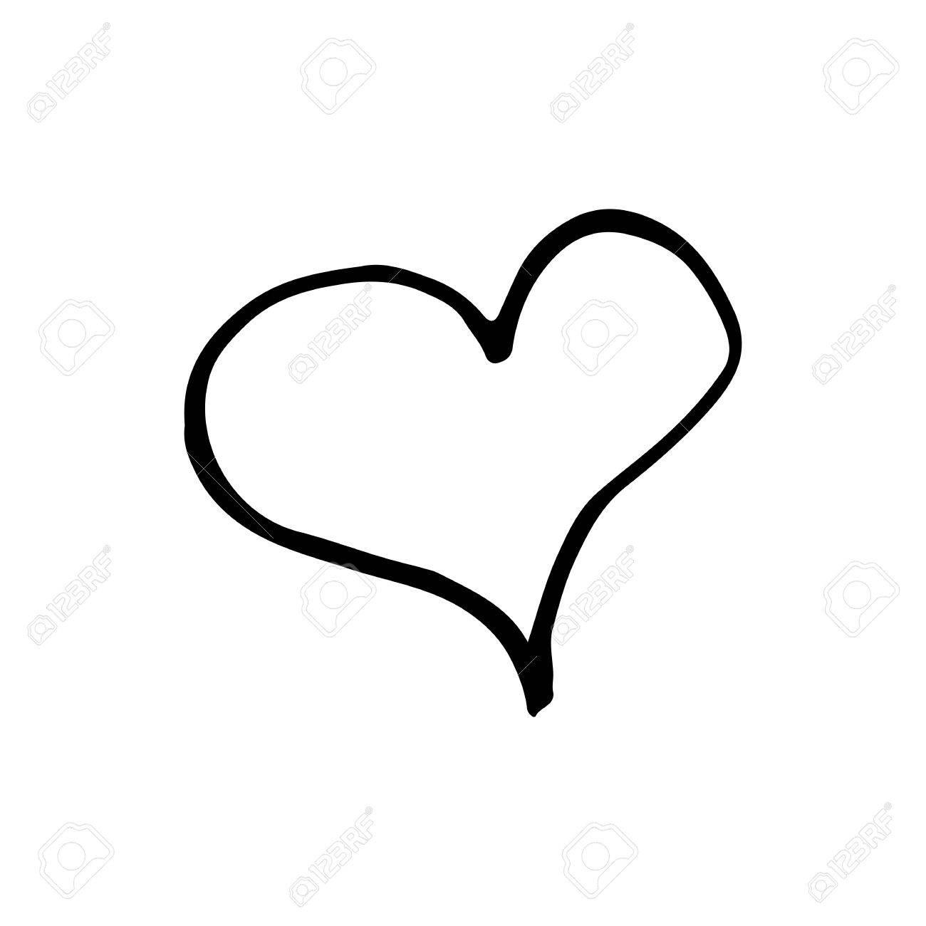 1300x1300 hand drawn heart clipart linear cartoon hand drawn heart
