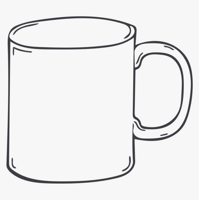 650x651 hand drawing cup, cup clipart, hand painting, cup png image