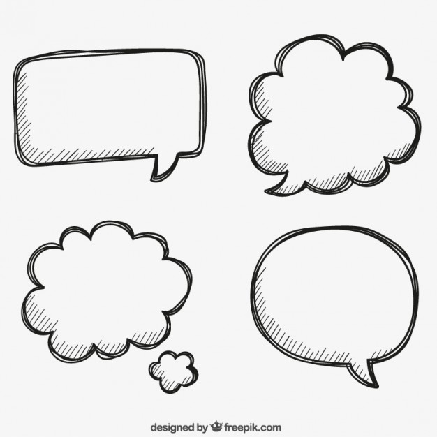 626x626 Hand Drawn Bubbles Speech Vector Free Download