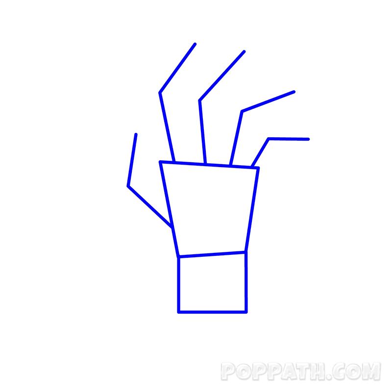 800x800 How To Draw A Zombie Hand Pop Path